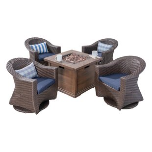 Reina Patio 5 Piece Conversation Set with Cushions