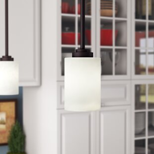 Great Price Alica 1-Light Cylinder Pendant By Charlton Home