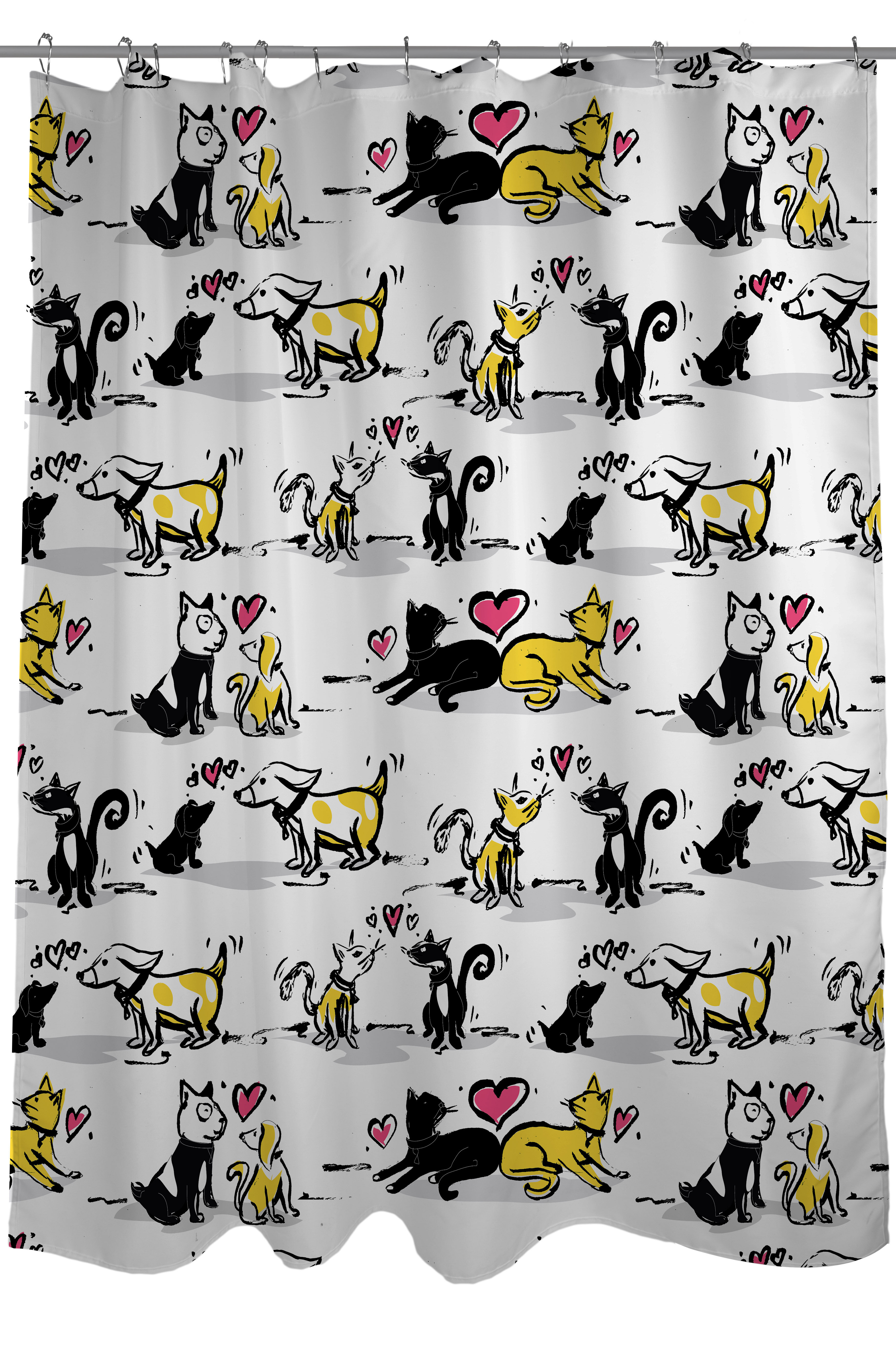 One Bella Casa Cat And Dog Lovers Shower Curtain