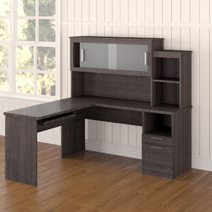 Avery Reversible L-Shape Executive Desk with Hutch