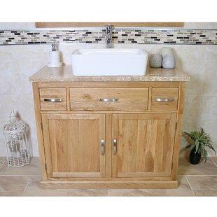Michael Solid Oak 1000mm Free-Standing Vanity Unit By Belfry Bathroom