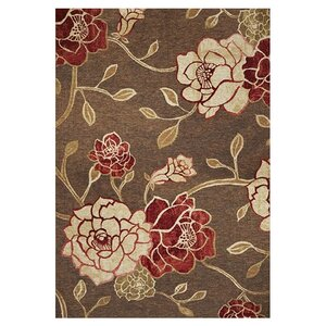 Freeport Mocha Flora Indoor/Outdoor Area Rug