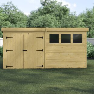 Calhan 14 Ft. W X 6 Ft. D Shiplap Pent Wooden Shed By Union Rustic