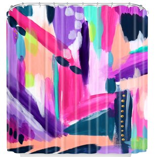 Find Tulip Abstract Shower Curtain By East Urban Home