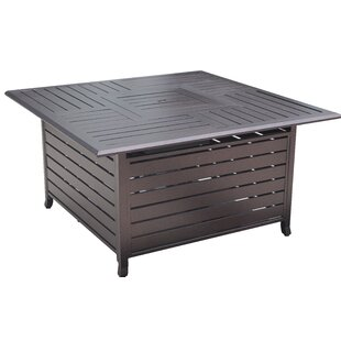 Belleze Resistant Outdoor Steel Propane Gas Fire Pit Table