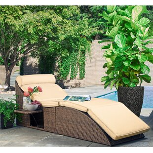 Volker Pool and Deck Convertible Chair with Cushion