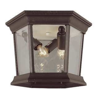 Charlton Home Tucker 3-Light Outdoor Flush Mount