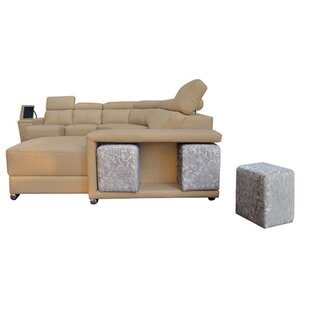 Banker Leather Sectional