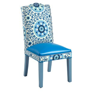 Loni M Designs Gabrielle Cotton Parsons Chair (Set of 2)