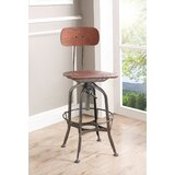 Fauntleroy Adjustable Height Swivel Bar Stool by Williston Forge