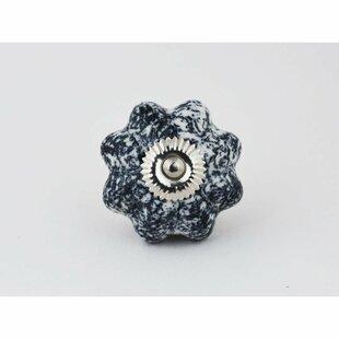 Ceramic Cabinet Flower Novelty Knob (Set of 4)