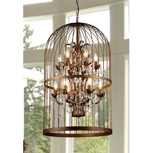 House of Hampton Centralia Cage 12-Light Lantern Pendant