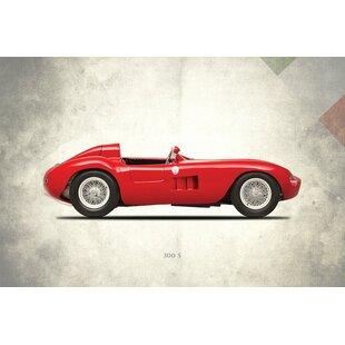 'Vintage Italia Series: 1955 Maserati 300S' Vintage Advertisement on Canvas ByEast Urban Home