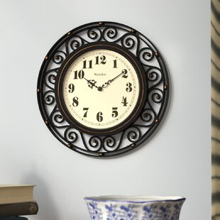 12 Round Wrought Iron Detailed Wall Clock