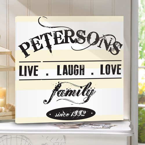 Jds Personalized Gifts Personalized Live Laugh Love Textual Art On Wrapped Canvas Wayfair