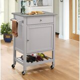 Rodger Kitchen Cart with Stainless Steel Top by Charlton Home®