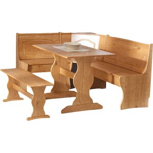 August Grove Patty 3 Piece Nook Dining Set