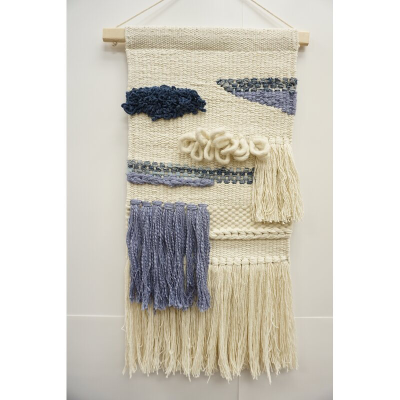 Cotton Macrame Wall Hanging With Hanging Accessories Included