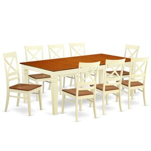 Beesley 9 Piece Rectangular Dining Set by Darby Home Co