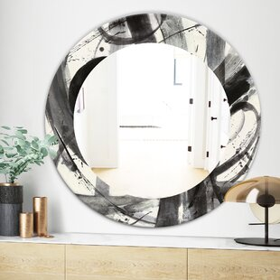 Minimalistic Roller III Traditional Wall Mirror