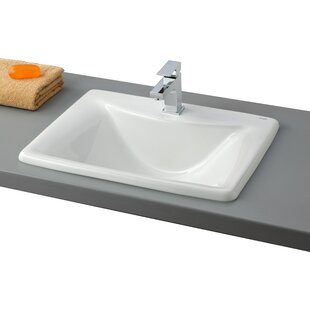 Cheviot Products Bali Vitreous China Rectangular Drop-In Bathroom Sink