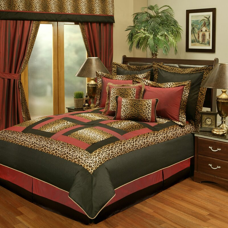 Beau Jungle Passage Cheetah 8 Piece Reversible Comforter Set
