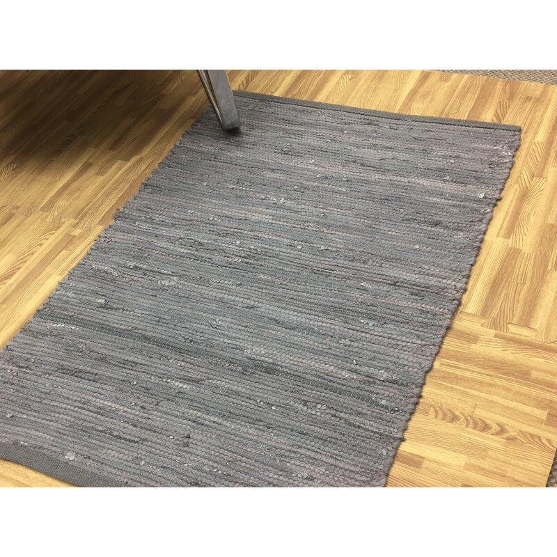 World Menagerie Stelly Handmade Dhurrie Cotton Gray Area Rug Reviews Wayfair