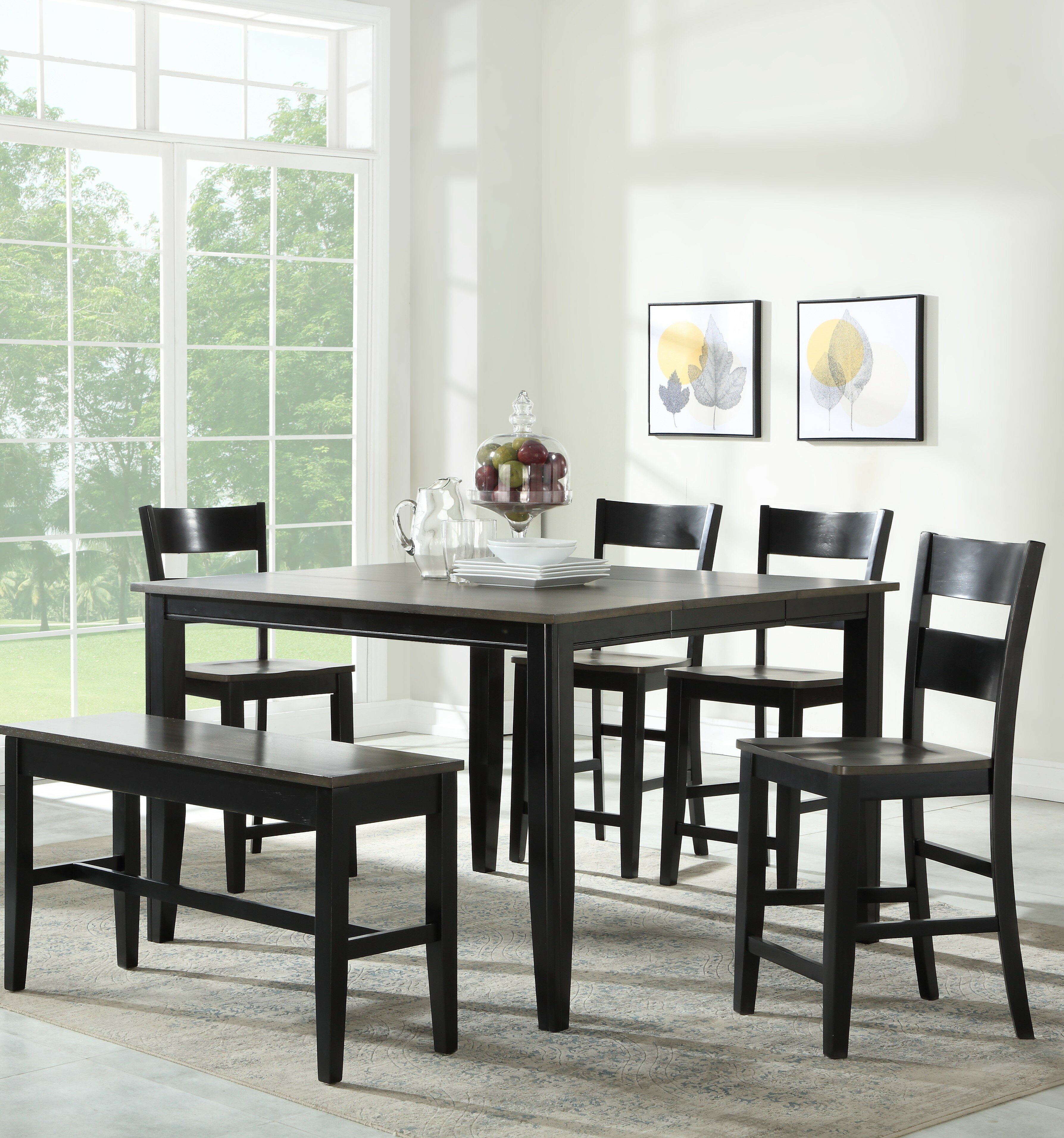 Red Barrel Studio Mcdonagh 5 Piece Counter Height Extendable Dining Set Reviews Wayfair