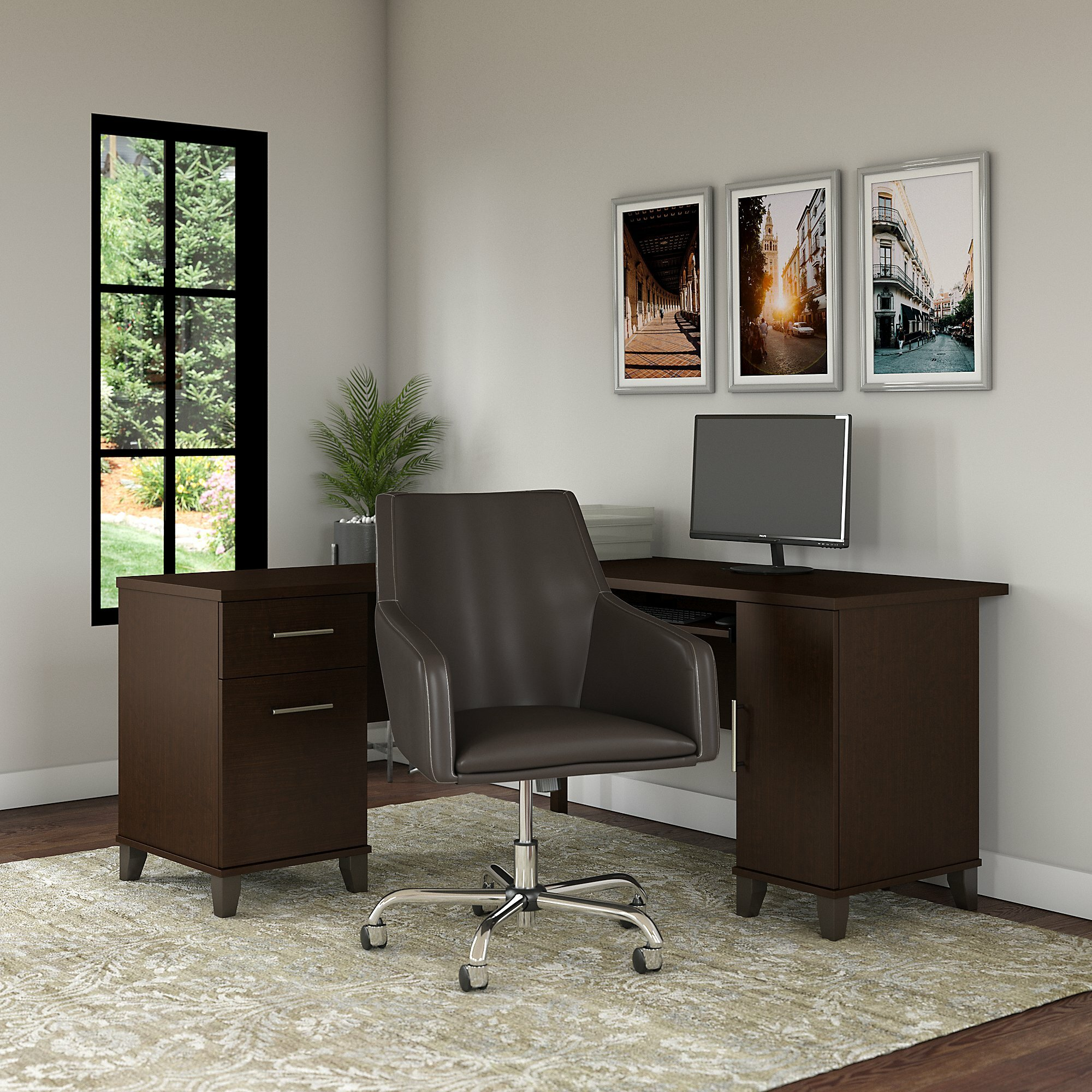 Stupendous Kirchoff Reversible L Shaped Desk And Chair Set Andrewgaddart Wooden Chair Designs For Living Room Andrewgaddartcom