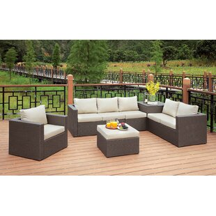 Bayou Breeze Kraemer 6 Piece Sectional Set with Cushions