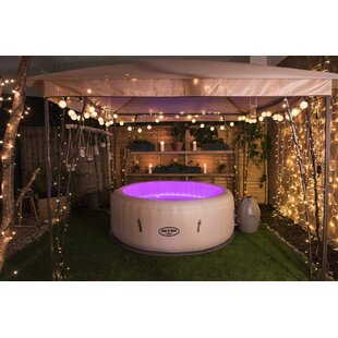 Paris 6-Person 87-Jet Inflatable Plug And Play Spa With LED Light By Lay-Z-Spa