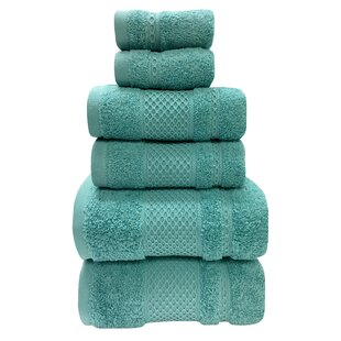 Fitchett 6 Piece 100% Cotton Towel Set by Red Barrel Studio Top Reviews