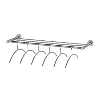 3 Hanger Stainless Steel Wall Mounted Coat Rack By Symple Stuff