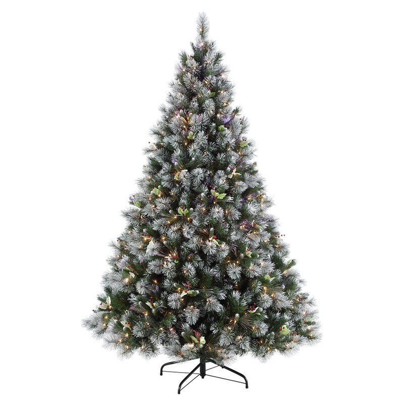 Winter Wonderland Green Artificial Christmas Tree with 500 Clear/White Lights