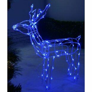 Pre-Lit 90 LED 3D Twinkling Reindeer Lighted Display By The Seasonal Aisle