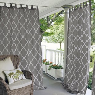 Geraghty Indoor/Outdoor Polyester Single Curtain Panel by Alcott Hill