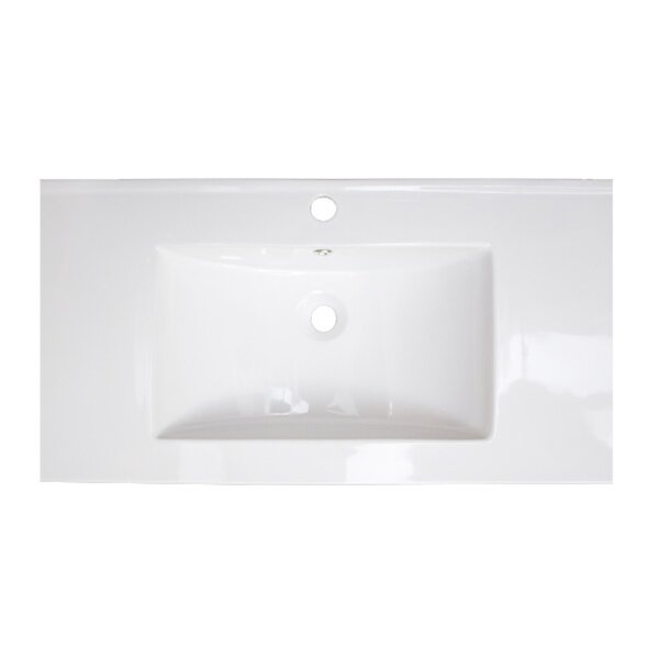 American Imaginations Flair Ceramic Rectangular Drop In Bathroom Sink With Overflow Wayfair