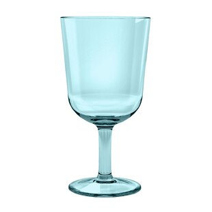 Gaige 16 oz. Plastic Stemmed Wine Glass (Set of 6) By Wrought Studio