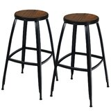 Ludvig Solid Wood Bar Stool by 17 Stories
