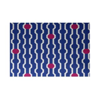Buy Uresti Decorative Holiday Geometric Print Royal Blue Woven Indoor/Outdoor Area Rug By Wrought Studio