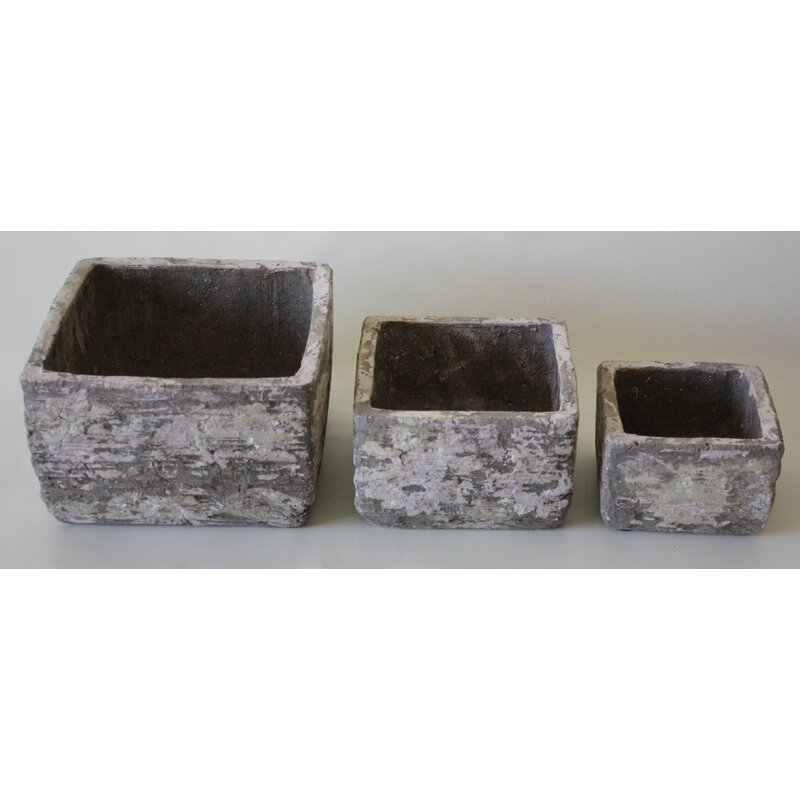Destidesign 3 Piece Ceramic Planter Box Set Wayfair