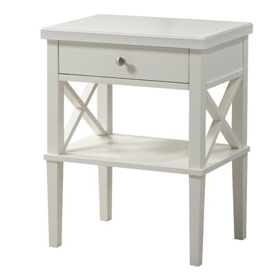 Silvestri 1 Drawer Nightstand Color: White by Andover Mills