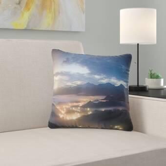 East Urban Home Floral Fractal Flower Pattern Lumbar Pillow Wayfair