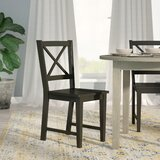 Powe Solid Wood Dining Chair (Set of 2) by Andover Mills
