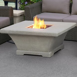 Real Flame Monaco Concrete Propane Fire Pit Table