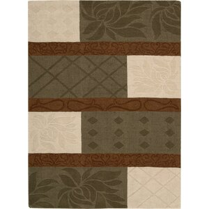 Adella Handmade Beige/Brown Area Rug