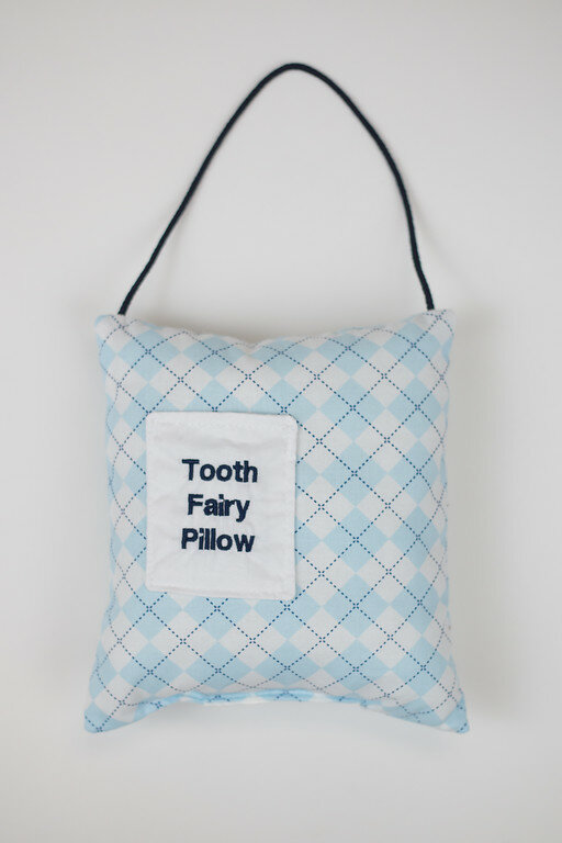 & Caught Ya Lookinu0027 Argyle Tooth Fairy Pillow Door Hanger | Wayfair