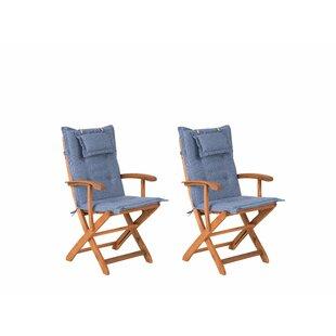 Maren Folding Garden Chair With Cushion Image