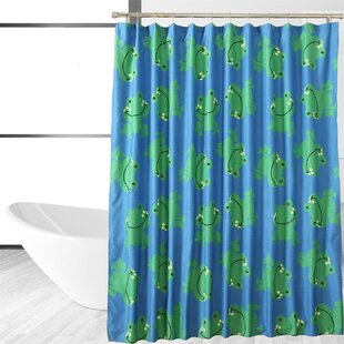 Affordable Froggy Friends Shower Curtain ByAffluence Home Fashions