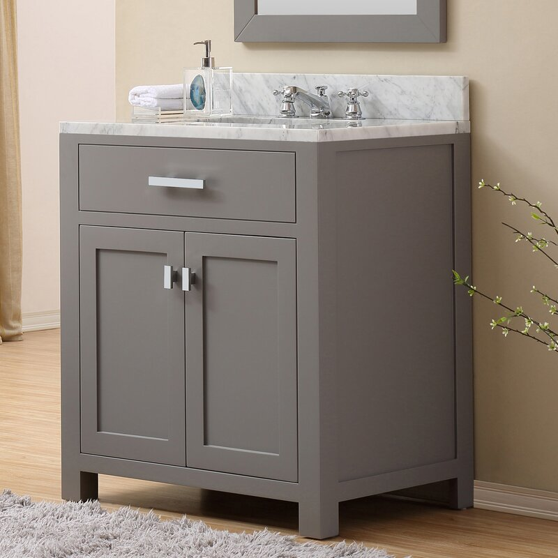 "darby home co fran 30"" single sink bathroom vanity set & reviews"